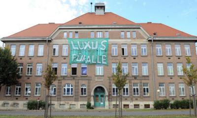 Hausbesetzung, Hausprojekt, ehem. Schule Triesterstraße Foto: Clemens Fabry